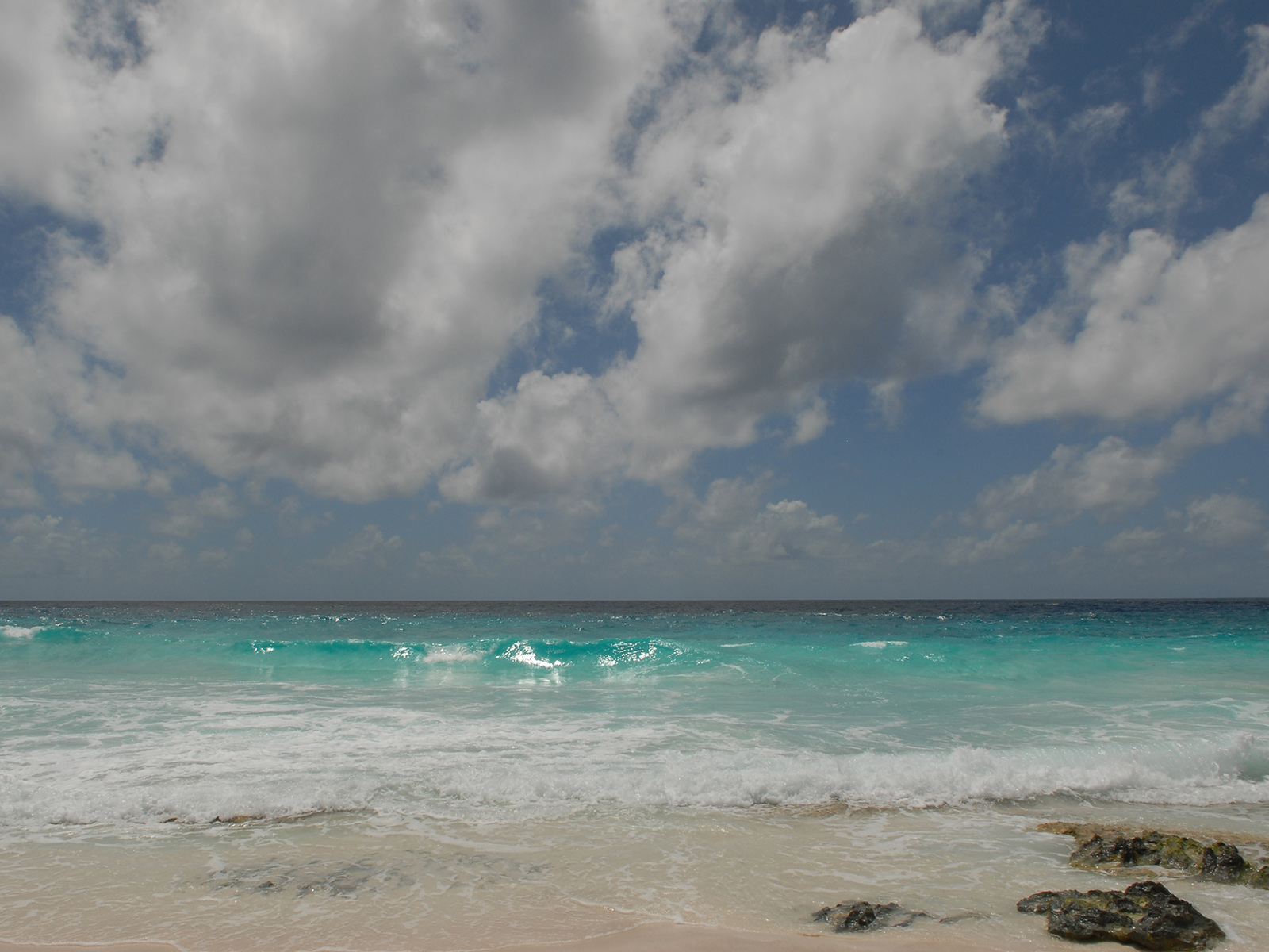the Indian Ocean from the shores of Sister Island in the Seychelles