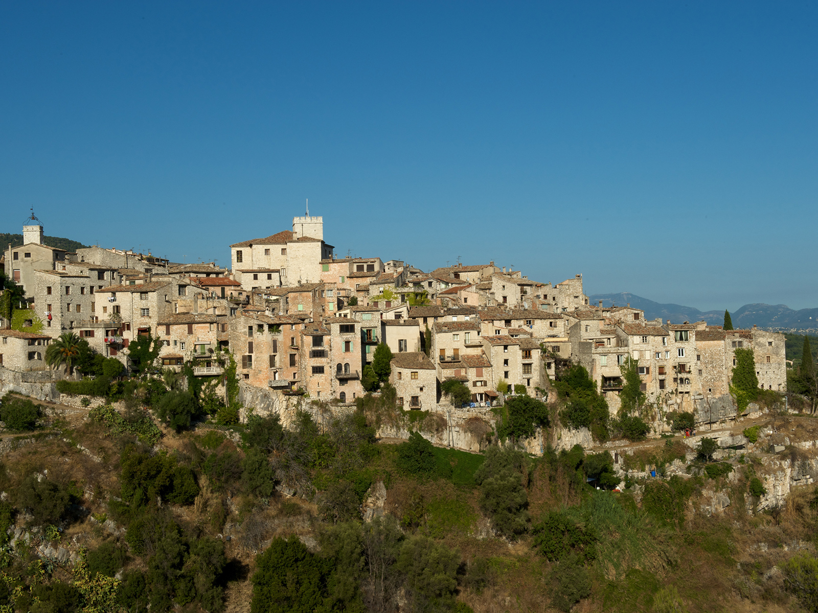 the village of Tourrettes-Sur-Loup in the Alpes Maritimes, France